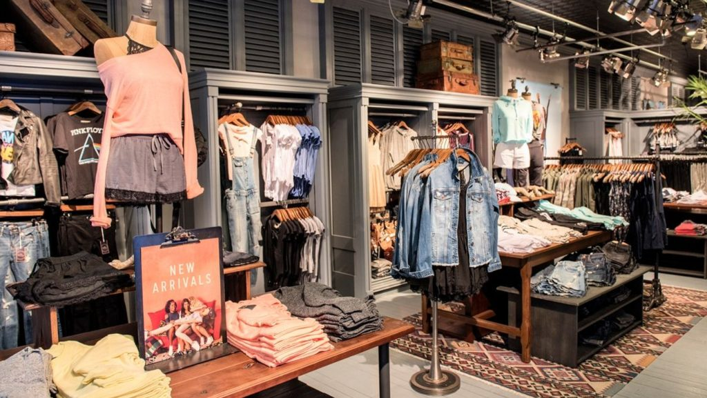 inside the hollister store