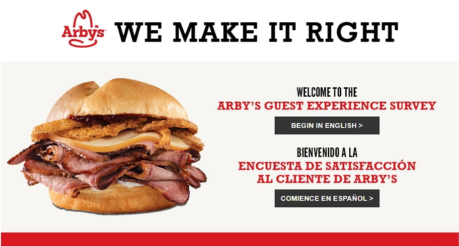 www.arbys.com/survey homepage