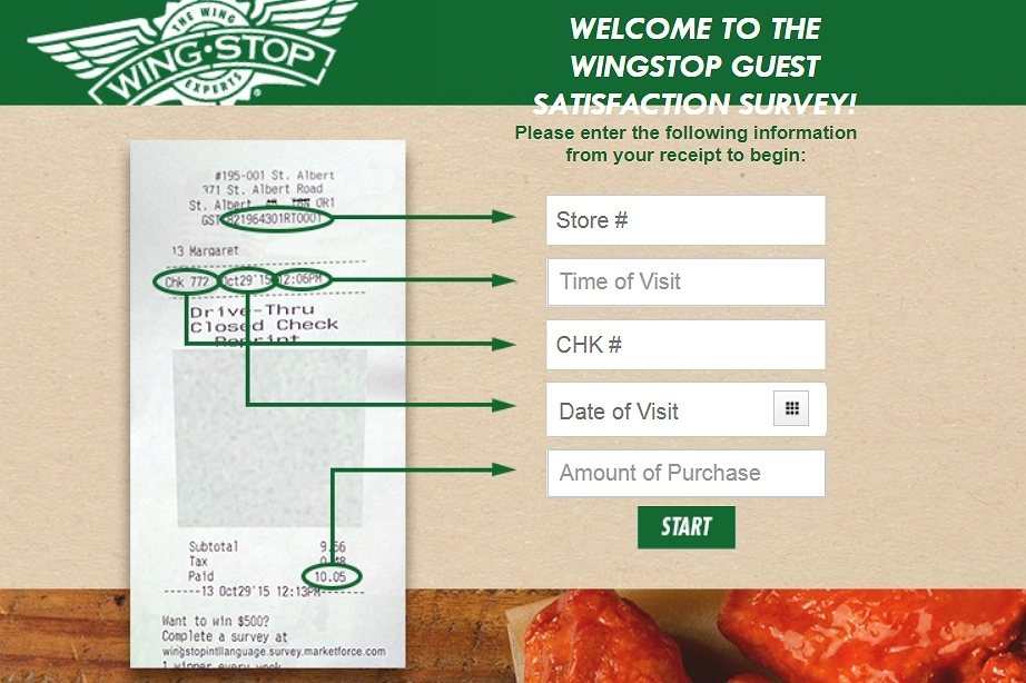 mywingstopsurvey.com official homepage