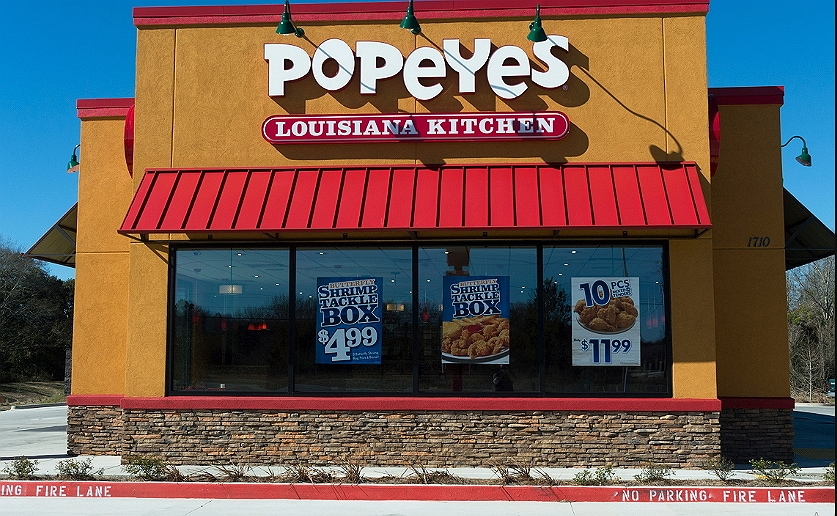 Popeyes kitchen restaurant